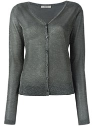 Dorothee Schumacher High Shine Cardigan Metallic