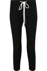 Bassike Cotton Blend Tapered Pants Black