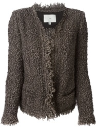Iro Loop Knit Cardigan Brown