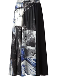 Ilaria Nistri Abstract Print Panelled Skirt