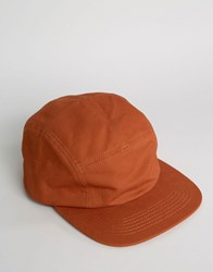 Asos 5 Panel Cap In Rust Rust Brown