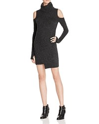 Pam And Gela Cold Shoulder Sweater Dress Charcoal