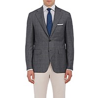 Canali Men's Glen Plaid Two Button Sportcoat Grey