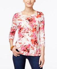 Jm Collection Printed Jacquard Top Only At Macy's Flutter Mix