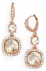 Women's Givenchy 'Legacy' Drop Earrings Rose Gold Silk Crystal