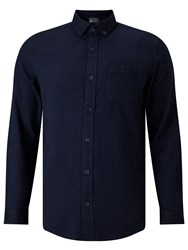 John Lewis And Co. Brushed Herringbone Shirt Indigo