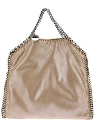 Stella Mccartney 'Falabella' Fold Over Tote Nude And Neutrals