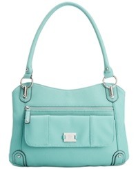 Style And Co. Slouchy Zip Satchel Spearmint