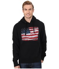 Roper Vintage Patriotic Crackled Patriotic Flag Black Men's Sweatshirt