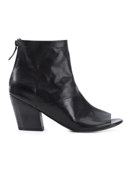 Marsell Marsell Open Toe Ankle Boots Black