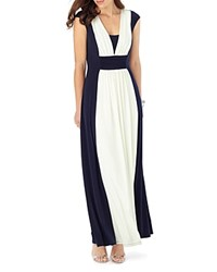 Phase Eight Palma Color Block Maxi Dress Navy Ivory