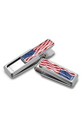 Men's M Clip American Flag Money Clip Metallic Natural Red White Blue