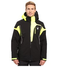 Spyder Cannon Jacket Black Bryte Yellow Polar Men's Jacket