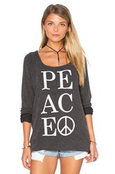 Chaser Peace Sweater Charcoal