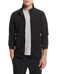 Theory Zip Front Long Sleeve Track Jacket Black Women's