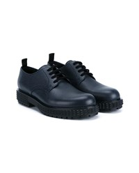 Valentino Stud Sole Leather Derby Shoes Dark Blue Navy