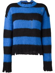 Filles A Papa Turtleneck Striped Sweater Black