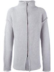 Lost And Found Ria Dunn Zipped Jumper Grey