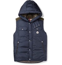 Moncler Anis Quilted Shell Hooded Down Gilet Navy