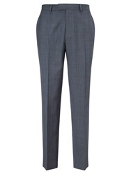 Chester Barrie By Prince Of Wales Check Suit Trousers Pale Blue