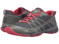 The North Face Litewave Ampere Zinc Grey Heather Print Melon Red Women's Shoes Gray