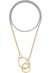 Charlotte Chesnais Symi Gold Plated And Silver Necklace
