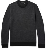 Theory Blakes Stretch Merino Wool Sweater Black