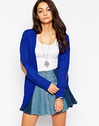 Glamorous Cardigan With Elbow Patches Coboltblue