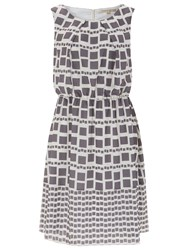 Nougat London Marylebone Tile Print Dress Charcoal