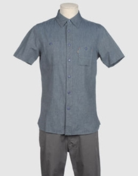 Element Short Sleeve Shirts Blue
