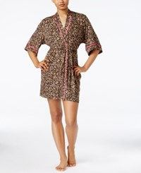 Thalia Sodi Leopard Print Knit Wrap Robe Only At Macy's Iconic Cheetah
