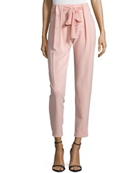 Greylin Bow Front Pleated Pants Blush