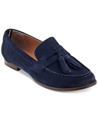Tommy Hilfiger Sonya Tassel Loafers Women's Shoes Navy Suede