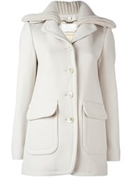 Chloe Single Breasted Coat Nude And Neutrals