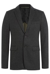 Kenzo Wool Blazer With Elbow Patches Black