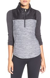 The North Face Women's 'Pseudio' Half Zip Quilted Vest Tnf Dark Grey Tnf Black