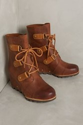 Anthropologie Sorel Joan Of Arctic Wedge Weather Boots Honey
