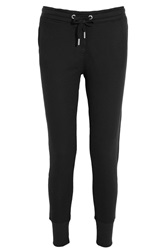 Zoe Karssen Cotton Blend Jersey Track Pants Black
