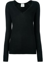 Forte Forte V Neck Jumper Black