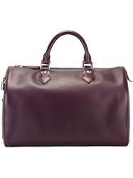Louis Vuitton Vintage 'Speedy' Tote Pink And Purple