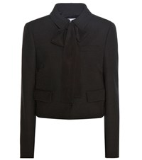 Red Valentino Crepe Jacket Black