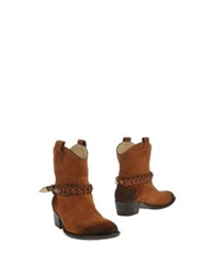 Liu Jo Shoes Ankle Boots Brown