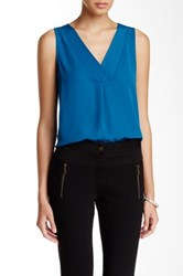 Laundry By Shelli Segal Double Layer Tank Blue