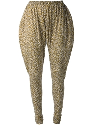 Labour Of Love Leopard Print Harem Style Leggings Grey