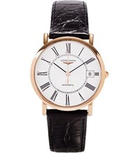 Longines L4.778.8.11.0 Presence Rose Gold Plated Steel Watch