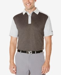 Callaway Men's Big And Tall Colorblocked Performance Polo Grey Heather