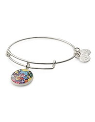 Alex And Ani Friendship Bear Art Infusion Charm Bangle Silver