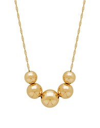 Lord And Taylor 14K Yellow Gold Ball Pendant Necklace