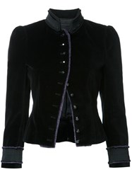 Marc Jacobs Velvet Victorian Jacket Black