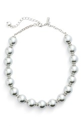 Kate Spade Women's New York Faux Pearl Collar Necklace Grey Multi